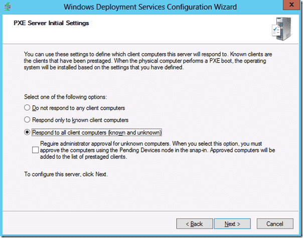 Windows Deployment Services - PXE boot