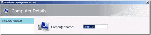 Check computer name