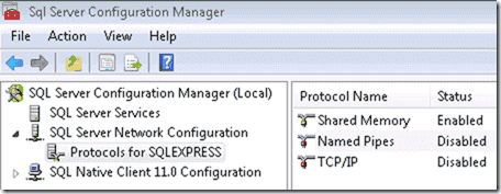 Named Pipes allow for Windows PE to connect to a SQL Server