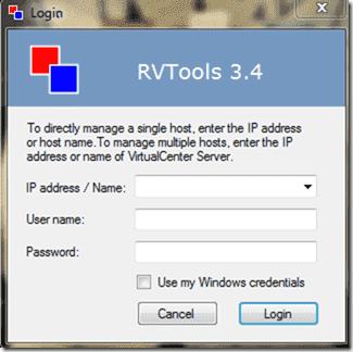 FREE: RVTools – Display information of virtual machines on