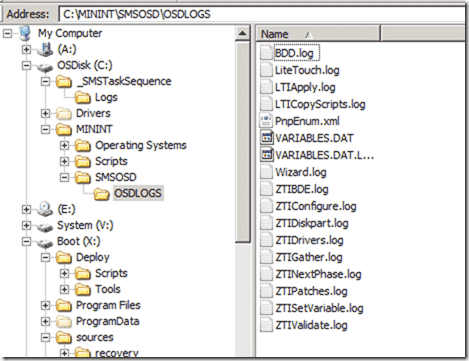 Windows 8 deployment - Log file locations
