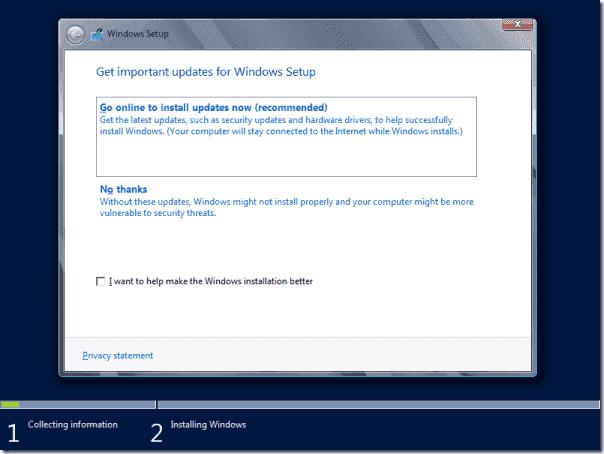 Graphical Windows Setup program