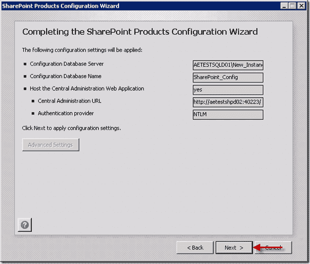 Install SharePoint 2013  - Completing the SharePoint Products Configuration Wizard