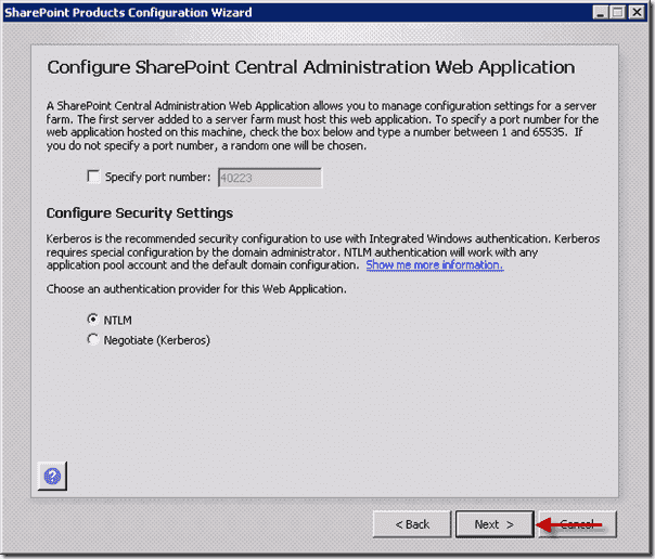 Install SharePoint 2013 - Configure SharePoint Central Administration Web Application