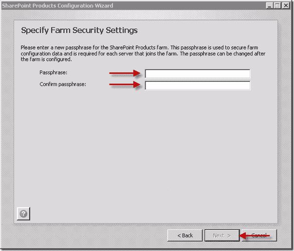 Install Shareoint 2013  - Specify Farm Security Settings