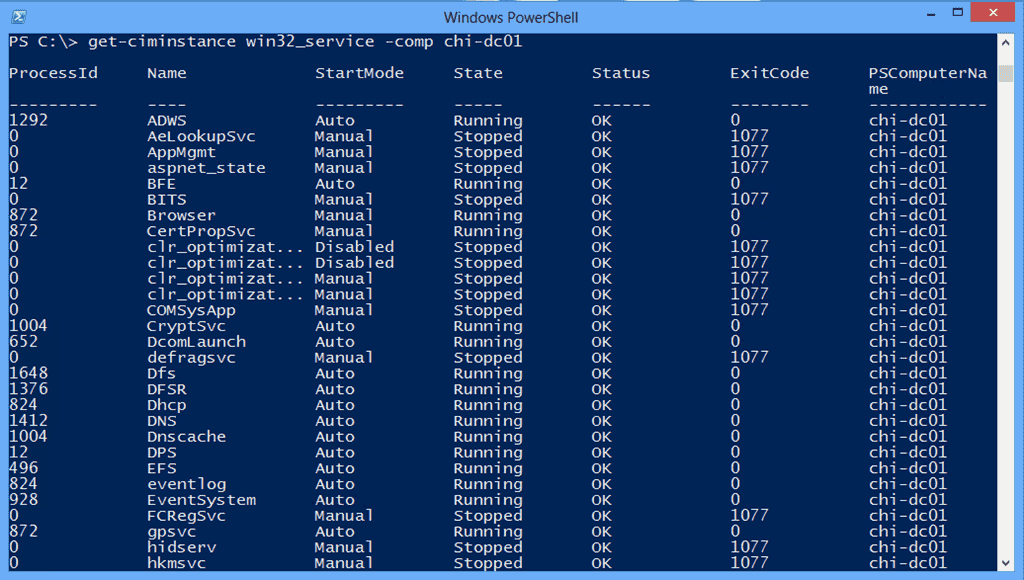 Managing Services the PowerShell way – Part 5: WMI and CIM