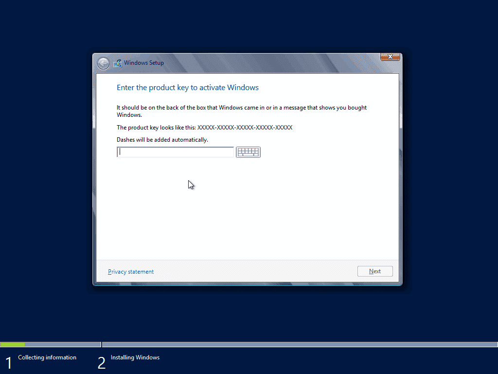 windows server 2012 enter new product key