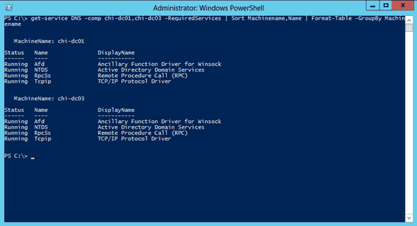 Services and PowerShell - Dependent Services