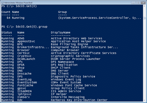 Services and PowerShell - Filtering with Group-Object