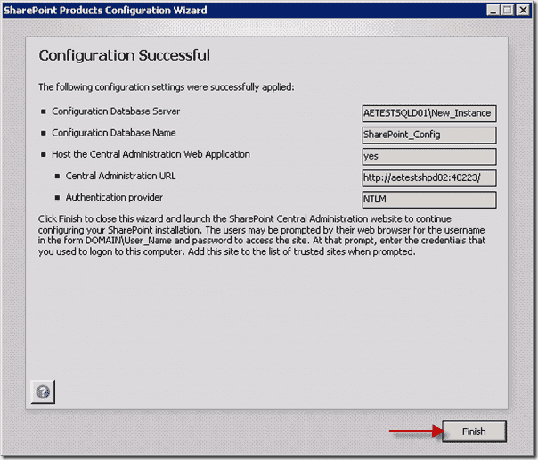 SharePoint 2013 - Configuration Successful