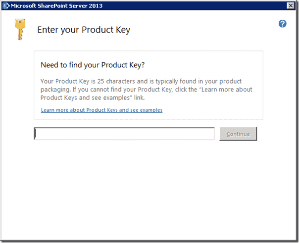 SharePoint 2013 - Enter Product Key