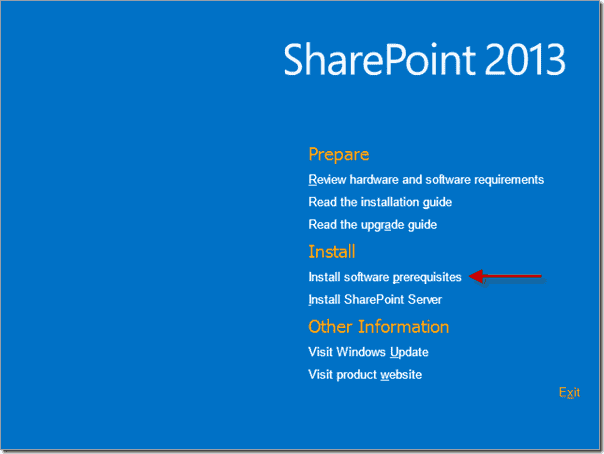 SharePoint 2013 - Install Software Prerequisites