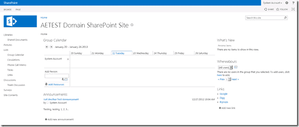 SharePoint 2013 - Main Site