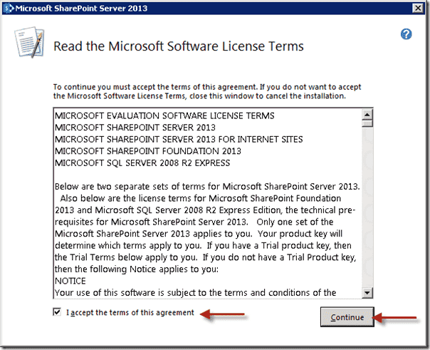 SharePoint 2013 - Software License Terms