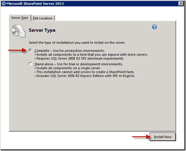 SharePoint 2013 upgrade - Server Type