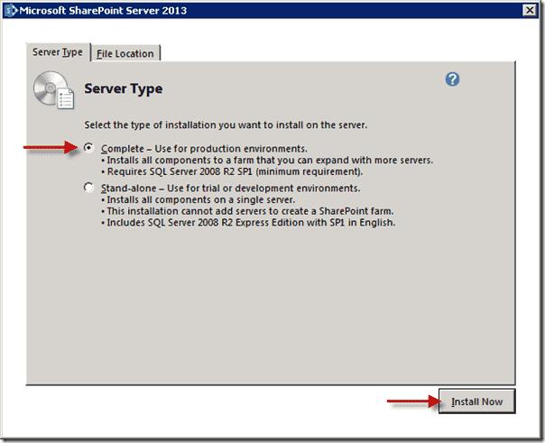 SharePoint 2013 upgrade - Server Type