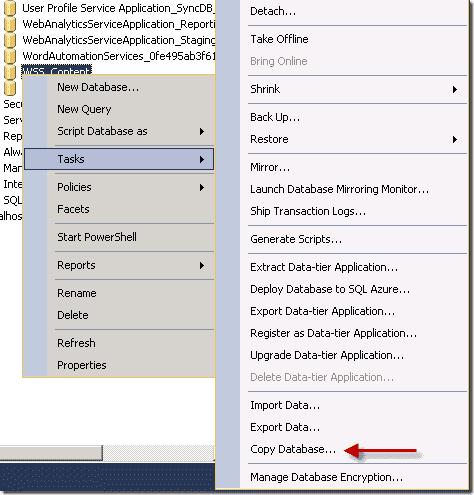 Sharepoint 2013 upgrade - Copy database