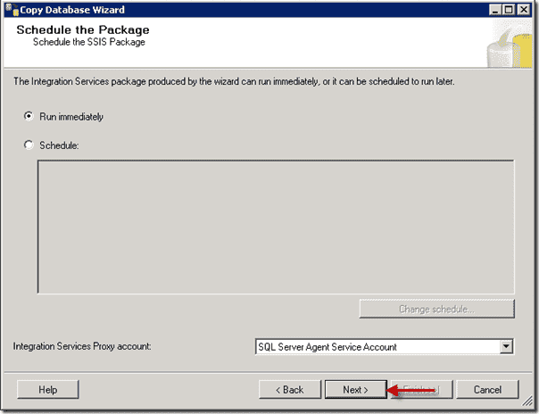 Sharepoint 2013 upgrade - Schedule the Package