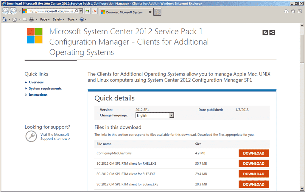 Configuration Manager 2012 SP1 – Part 1: New features and
