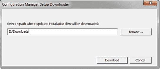 Configuration Manager Setup Downloader
