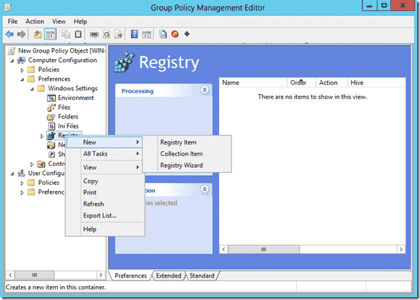 Disable IE ESC with Group Policy - Add Registry Item in Group Policy Preferences
