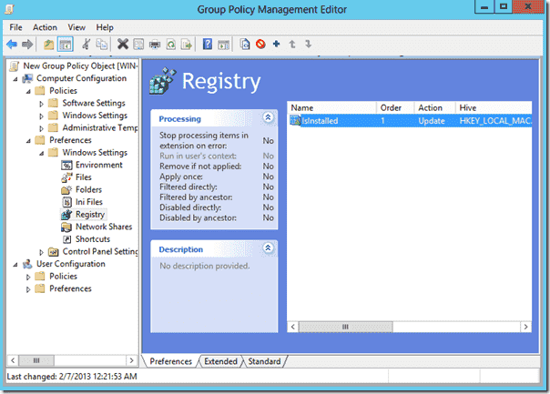Disable IE ESC with Group Policy - IsInstalled setting added