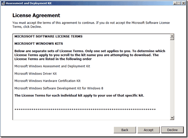 ADK Setup - License Agreement