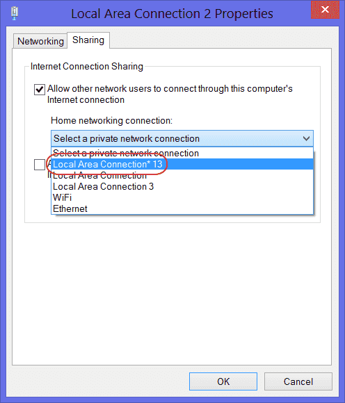 Allow other network users to connect-through-this-computers-internet-connection