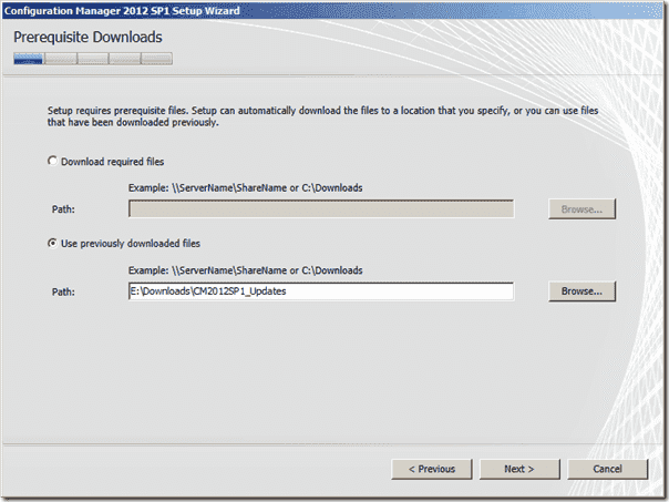 Configuration Manager 2012 SP1 Prerequisite Downloads