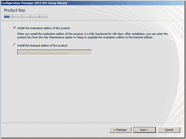 Configuration Manager 2012 SP1 Product Key
