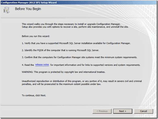 Configuration Manager 2012 SP1 Release Notes