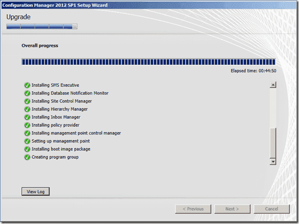 Configuration Manager 2012 SP1 Upgrade
