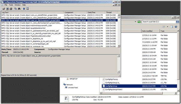 Configuration Manager logs