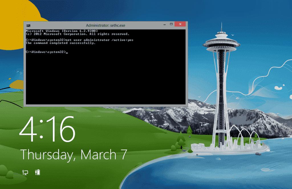 no admin account windows 8.1