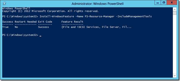Install FRSM with Powershell on Windows Server 2012