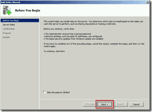 Install FSRM on Windows Server 2008 R2 using Server Manager 2