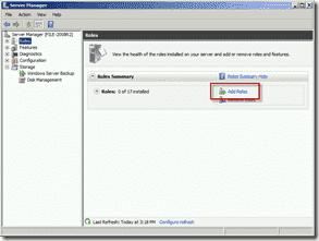Install FSRM on Windows Server 2008 R2 using Server Manager