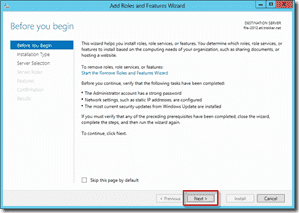 Install FSRM on Windows Server 2012 using Server Manager 2
