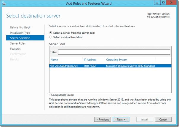 Install FSRM on Windows Server 2012 using Server Manager 4