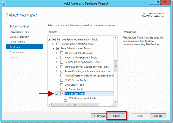 Install FSRM on Windows Server 2012 using Server Manager 8