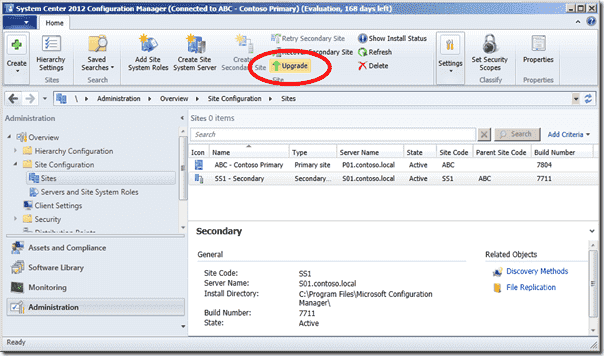 SCCM 2012 SP1 Upgrade link