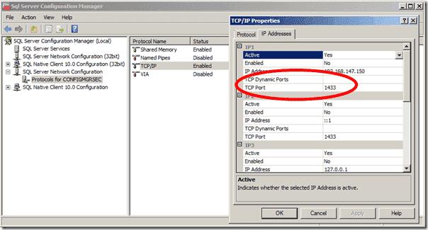 SQL Server Dynamic TCP Ports
