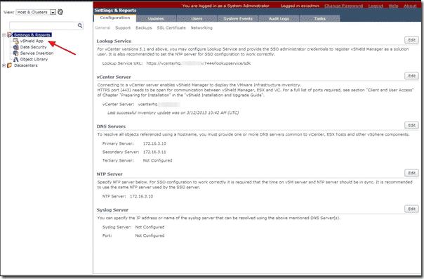vShield Plug-in in VMware vCenter