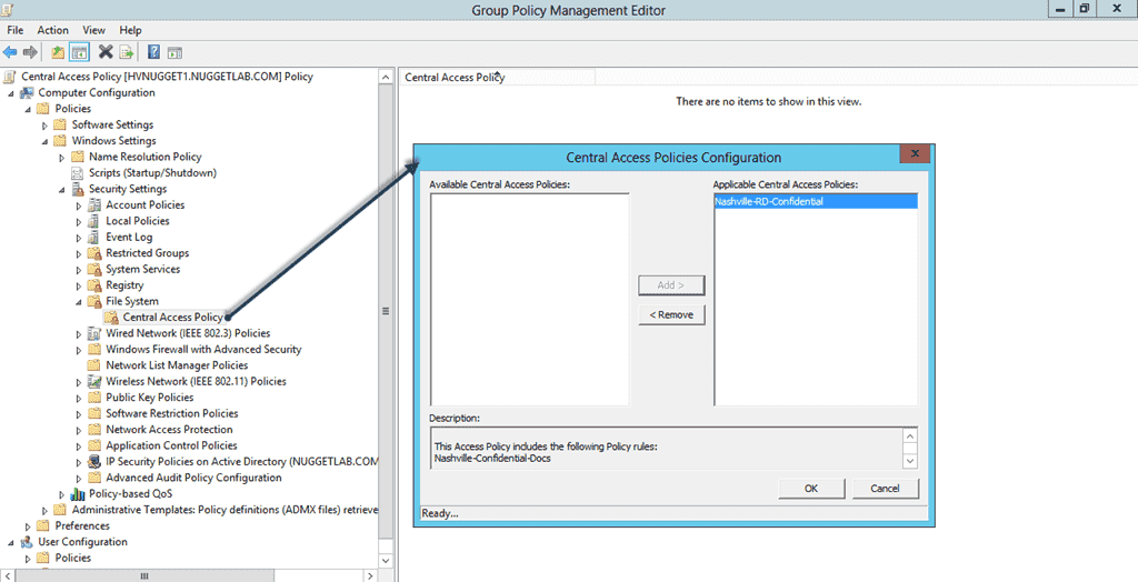 Configuring DAC withGroup Policy