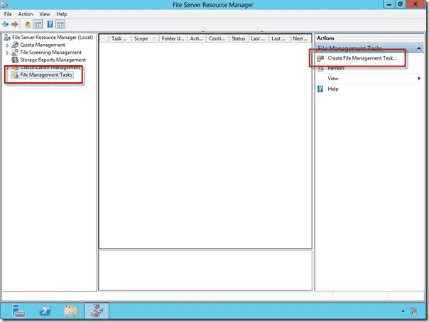 Create File Management Task