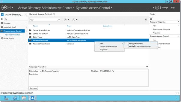 Dynamic Access Control elements