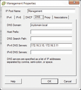 IP pools in vCenter 5.1 - DNS