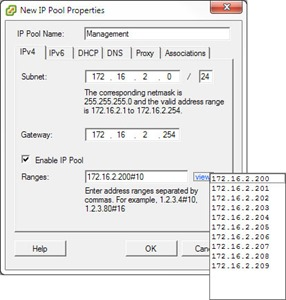 IP pools in vCenter 5.1 - Verify IP