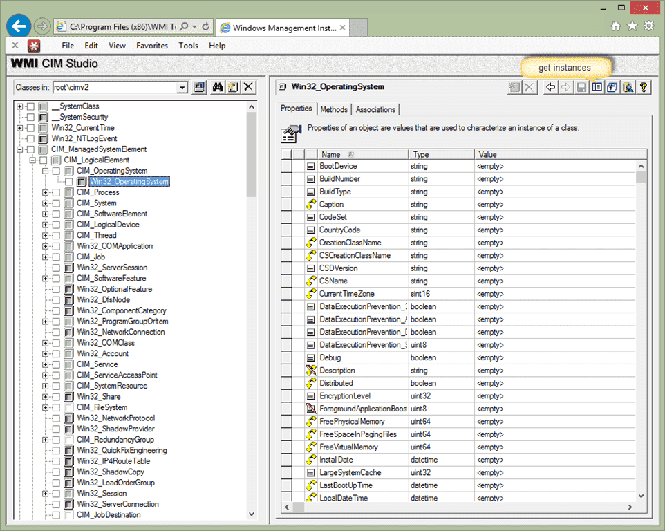 FREE: WMI Administrative Tools – WMI Object Browser and WMI CIM
