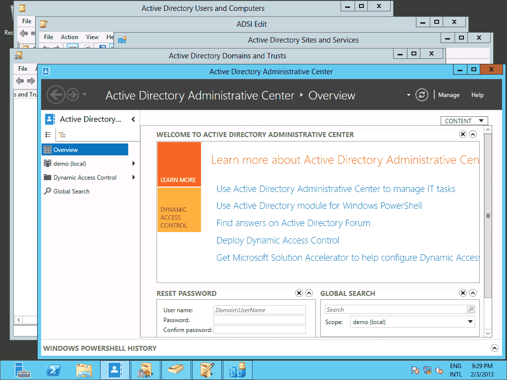 Server Core Remote Active Directory Management.